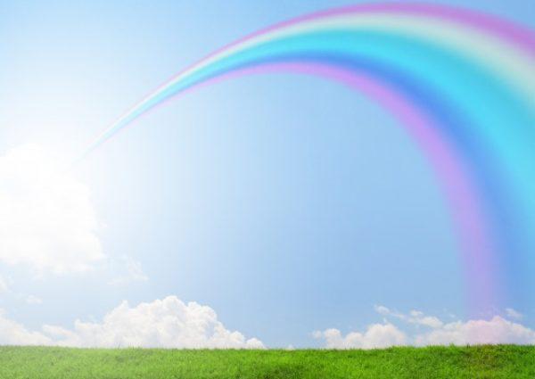 青空、虹の橋